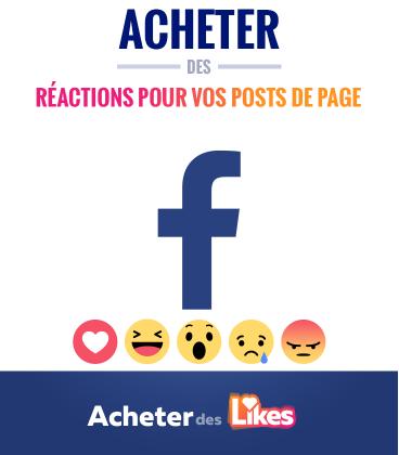 Acheter des réactions Facebook pour vos publications